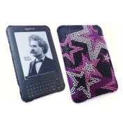 Premuim FunkGem (Black Pink White) Starry Nights Case & Screen Protector - Amazon Kindle 3 3G - Wifi