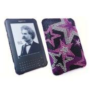 Premuim FunkGem (Black Pink White) Starry Nights Case & Screen Protector - Amazon Kindle 3 3G - Wifi