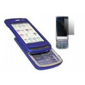 Blue Hybrid Case LCD Screen protector & Cleaning Cloth - LG GD900 Crystal