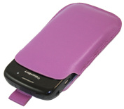 Purple Slip Pouch Protective Case with Pull Tab - BlackBerry 8520 Curve, 9300 3G, 9700 Bold, 9700 Onyx
