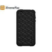 XtremeMac Microshield TATU Case Cover & Screen Protector for iPhone 4 - Black Blocks
