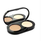 New Creamy Concealer Kit - Warm Beige Creamy Concealer + Pale Yellow Sheer Finish Pressed Powder, 3.1g/35ml