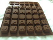 Alphabet Letters A-Z SILICONE cake cookie chocolate soap MOULD ice cube tray