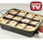 Lasagne Oven Dish Tray -12 Delicious Portions Lasagna in One Pan- Every Cooks Dream