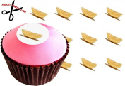 12 LEMON (Wedge) 38mm (1.5 Inch) PRE-CUT Cake Toppers Edible Rice Paper Cupcake Decoration 51