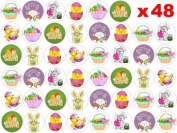 48 x 3cm Easter Fairy Cup Cake Toppers Decoration Edible Rice Wafer Paper