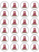 24 Bagpuss Cupcake Toppers
