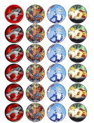 24 Thundercats Cupcake Toppers