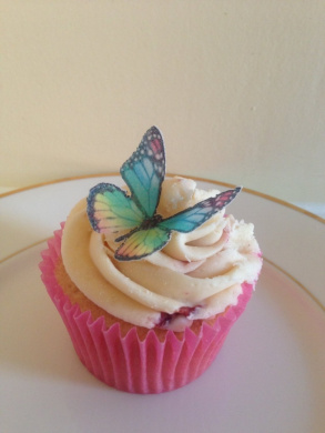 15 rainbow edible butterfly cup cake topper decorations by ...