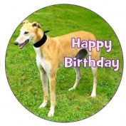 Greyhound Dog Cake Topper edible sugar icing 19cm decoration