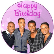 JLS Happy Birthday 19cm Cake Topper edible sugar icing