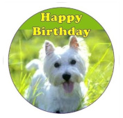 Westie Dog Cake Topper edible sugar icing 19cm decoration