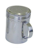 Stainless Steel 300ml Dredger Shaker with Handle - Ideal for Sugar, Salt, Icing Sugar, Flour, Chocolate, Cappuccino, Cocoa, Mince Pies, Pancakes