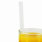 Super Jumbo Straws 20cm Clear - Box of 200 Drinking Straws, Ideal for Milkshakes, Smoothies and Slushies