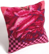 Rose Cocktail Pillow Cross Stitch Kit-38cm - 1.9cm x 40cm