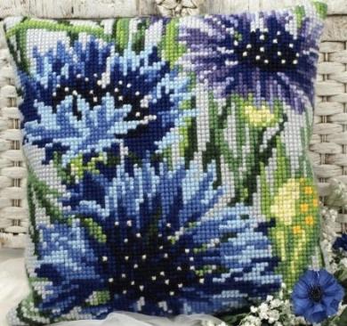 Bleuets Pillow Cross Stitch Kit-38cm - 1.9cm x 40cm