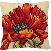Delicieuse Poppy Pillow Cross Stitch Kit-38cm - 1.9cm x 40cm