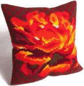 Rose Velours Pillow Cross Stitch Kit-38cm - 1.9cm x 40cm