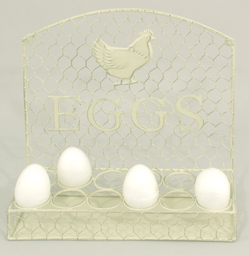 Distressed antique cream wall hanging egg holder brand for Egg tray wall hanging