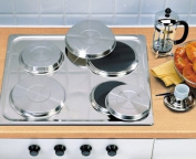 Set of 4 Stainless Steel Hob Covers / Protectors (977) Cooker