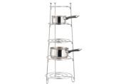 Apollo 28 x 28 x 80 cm 5-Tier Saucepan Stand, Chrome
