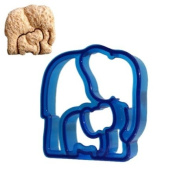 Elephant-Shaped Sandwich Cutter Cookie Biscuit Cutter - Blue