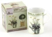 Fine Bone China Mug In A Gift Box - Topiary