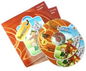 PetraLingua® English DVD Course for Kids 2 Video DVDs, 21 Lessons