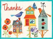 Avian Friends Birdhouse Thank You Glitz Notecards