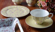 Katie Alice 'Ditsy Yellow Floral' Fine Bone China Afternoon Tea Set
