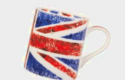 Queens Backing Britain Mug, Fine Bone China