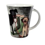 Alex Clark Fine Bone China Border Terrier & Labrador Mug