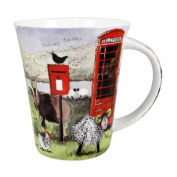 Alex Clark Red Phone Box & Farm Animals Fine Bone China Mug