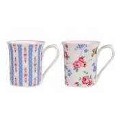 Churchill China Cath Kidston Pastel Blue & Bird Gift Box of 2 Mugs
