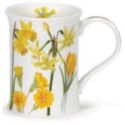 Sonata range - 1 x Dunoon Cotswold shape Fine Bone China mug - Yellow flowers design