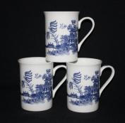 SET OF 6 WILLOW STYLE PATERN CHINTZ FINE BONE CHINA MUGS CUPS GIFT SET