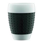 BODUM Pavina 2-Piece 0.4 Litre/400ml Porcelain Mug, Black