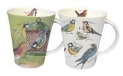 Alex Clark Bird World Mugs, Fine Bone China, Pack of 6