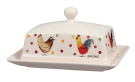 Alex Clark Rooster Butter Dish with Lid, Stoneware