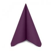 Pack of 50 Premium Quality Linen Feel Airlaid Plum/Purple Napkins - 40cm x 40cm