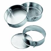 Premier Housewares Spring Form Cake Tins, Set of 3, Stainless Steel