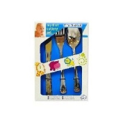 CHILDS/BABY MY FIRST CUTLERY SET 3 PIECE KNIFE FORK SPOON