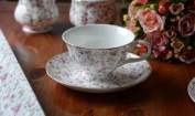 Katie Alice 'Ditsy White Floral' Fine Bone China Cup & Saucer