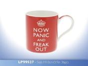 Now Panic And Freak Out' Fine Bone China Mug