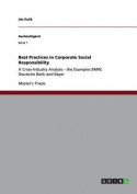 Best Practices in Corporate Social Responsibility