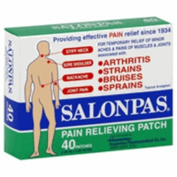 Salonpas Pain Relieving Patch, 6.5cm . x 4.2cm ., 40 ea