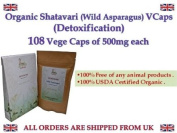 Organic Shatavari Wild Asparagus racemosus 108 Vege Caps of 500mg each Feminine Harmony USDA Certified *Ship from UK