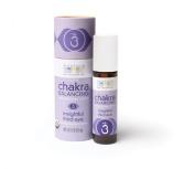 Aura Cacia Organic Chakra Balancing Roll-On, Insightful Third Eye, 0.31 fluid ounce