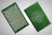 The Green Shakti Yantra Mat (Bed of Nails Mat) 100% Cotton, Most Acupressure Points ...