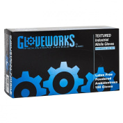 Ammex IN Gloveworks Blue Nitrile Glove, Latex Free, Disposable, 5 mil Thickness, Powdered, X-Large, IN48100-BX